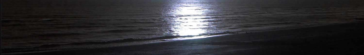 Sun on dark sea